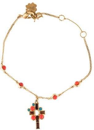 Christian Dior Christian Dior Cross Charm Bracelet