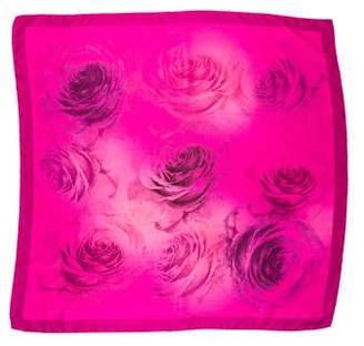 Valentino Floral Print Square Scarf
