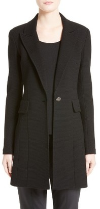Women's St. John Collection Micro Boucle Knit Blazer $1,695 thestylecure.com