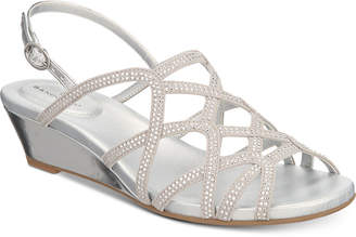 Bandolino Galtelli Embellished Slingback Wedge Sandals Women's Shoes