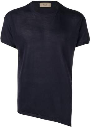Maison Flaneur asymmetric short-sleeved jumper