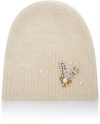 f85f02db8b7 Jennifer Behr Bea Embellished Angora Wool And Alpaca-Blend Beanie