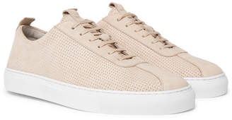 Grenson Perforated Nubuck Sneakers