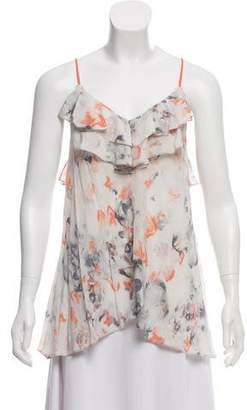 Rebecca Taylor Sleeveless Floral Printed Blouse