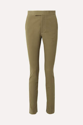 Helmut Lang Stretch-cotton Twill Skinny Pants - Army green