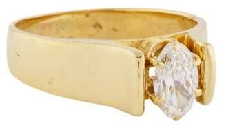 14K Oval Diamond Engagement Ring