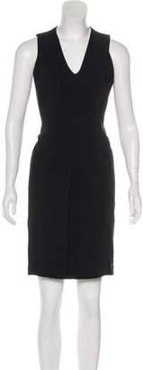 Alexander Wang Silk-Trimmed Knee-Length Dress
