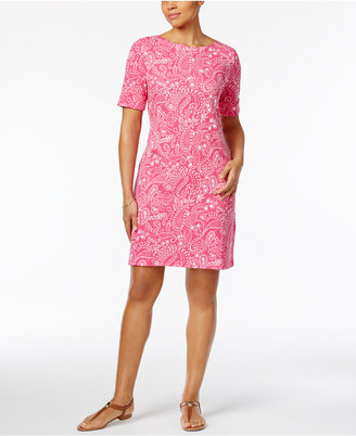 Karen Scott Paisley-Print T-Shirt Dress, Only at Macy's $44.50 thestylecure.com