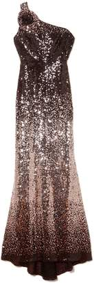 Vince Camuto Sequin One-shoulder Gown