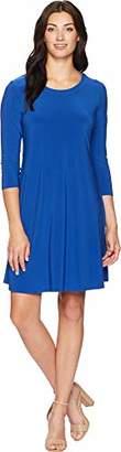 Anne Klein Women's Long Sleeve Shirt Dress