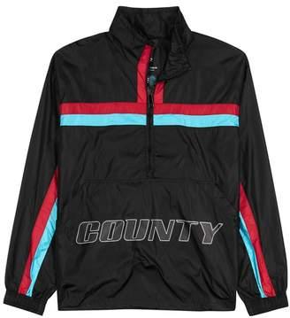 Marcelo Burlon County of Milan Black Striped Shell Jacket