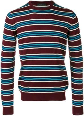 Prada round-neck striped pullover