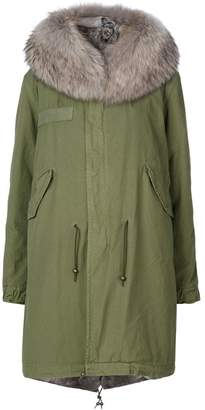 Mr & Mrs Italy trimmed hood mid parka