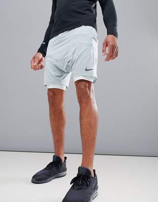 Nike Running 'Run Division' Distance Drop Crotch Shorts In Green 892893-019