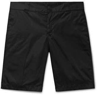 Prada Wide-Leg Nylon Shorts