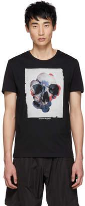 Alexander McQueen Black Floral Mix T-Shirt