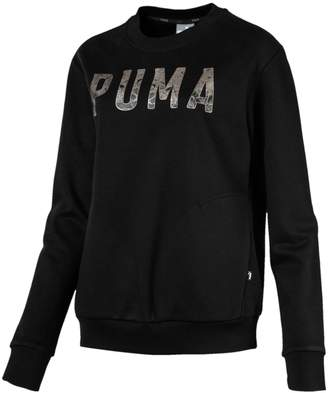 Puma Women s Athletic Crew Sweatshirt d8d5af8ea