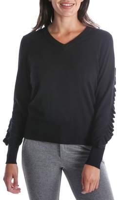 KUT from the Kloth Marlee Ruffle Sleeve Sweater