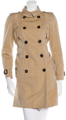 Burberry Prorsum Gathered Trench Coat $515 thestylecure.com