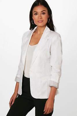 Damen Jade Blazer im Farbblockdesign in Weiß größe S