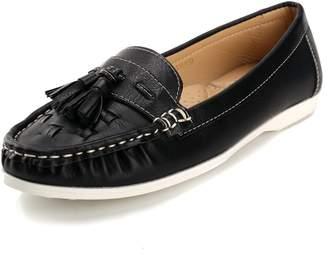 Leroy Alexis Women's Tassels Loafer Slip-On Flats 40 M EU/9-9.5 B(M) US