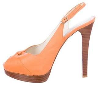 Stuart Weitzman Platform Slingback Sandals