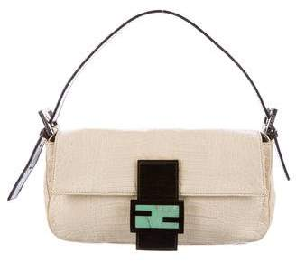 Fendi Embossed Baguette Bag