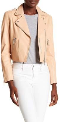 Doma Studded Cropped Biker Jacket