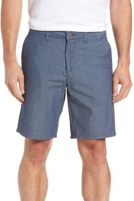 Johnnie-O Oliver Classic Fit Chambray Jacquard Shorts