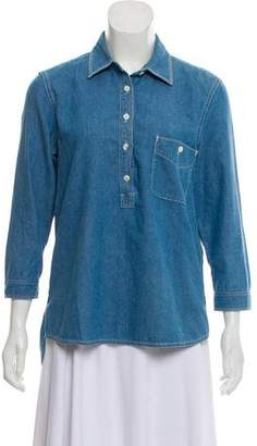 Paper Denim & Cloth Long Sleeve Denim Top