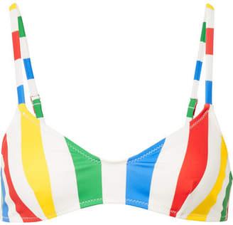 Solid & Striped The Rachel Striped Bikini Top - Yellow