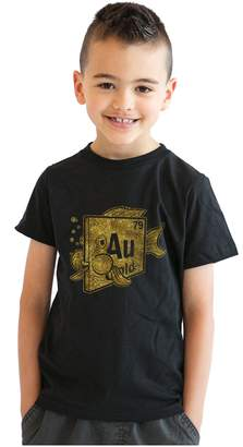 Crazy Dog T-shirts Crazy Dog Tshirts Youth Element Of Gold Goldfish T Shirt Funny Fish Shirt Science Tee For Kids S
