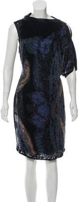 Les Copains Asymmetrical Sequin Dress