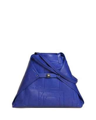 Akris AI Medium Soft Blueprint Leather Shoulder Bag