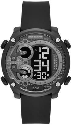 Skechers Gould Mens Black Strap Watch-Sr5116