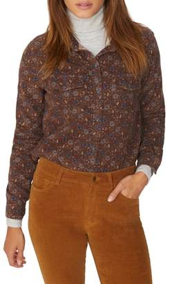 Sanctuary Floral Corduroy Work Shirt