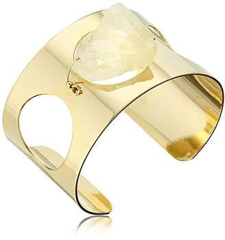 Yochi Citron Open Cuff Bracelet