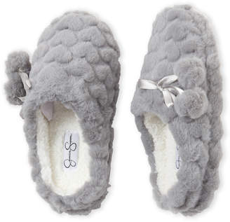 Jessica Simpson Heart Plush Cozy Slippers