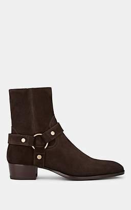 Saint Laurent Men's Wyatt Suede Boots - Dk. brown
