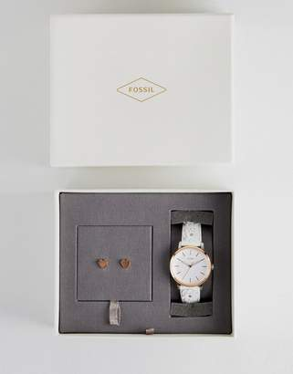 Fossil Neely Watch & Earrings Gift Set