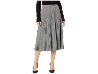Lauren Ralph Lauren Pleated Twill A-Line Skirt