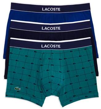 Lacoste Signature Boxer Briefs, Pack of 3