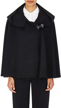 Giorgio Armani Women's Hooded Wool-Cashmere Cape-BLACK $2,639 thestylecure.com