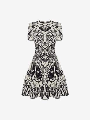 Alexander McQueen Spine Shell Jacquard Mini Dress