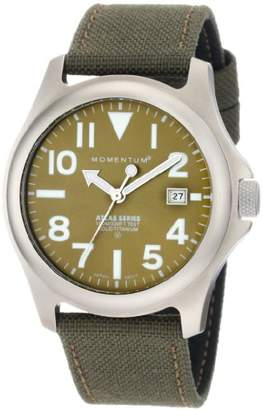 Momentum Men's 1M-SP00G6G Atlas Green Dial Khaki Cordura Watch