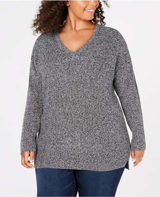 9f22108b05e37 ... 525 America Plus Size Cotton Marled-Knit Sweater