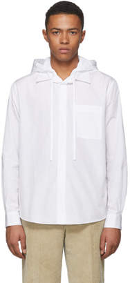 Craig Green White Poplin Hooded Shirt Jacket