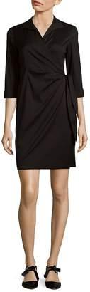 Lafayette 148 New York Women's Solid Wrap Dress