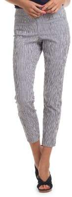 Trina Turk Slim-Fit Striped Skinny Pants
