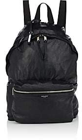 Saint Laurent Men's Foldable City Leather Backpack-Black
